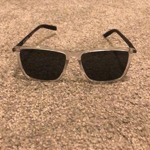 Clear framed rectangle glasses